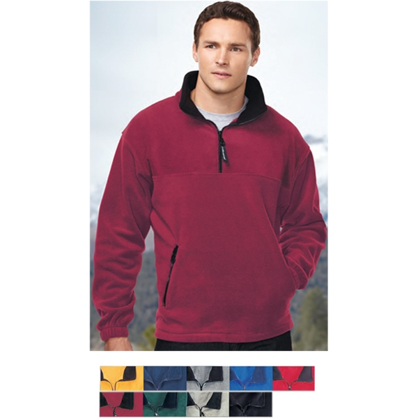 Viking -  X S -  X L - Pullover With Two Front Zippered Pockets And 1/4 Zipper Front Photo