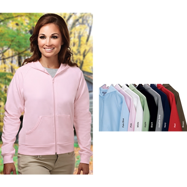 Expression -  X S -  X L - Women's Full Zip Hooded Fleece With Ribbed Cuffs And Bottom Photo