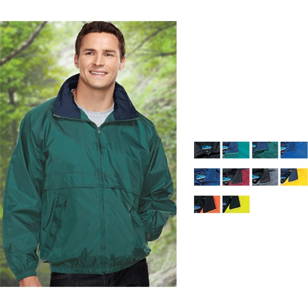 Highland - 2 X Lt - Jacket With Raglan Sleeves And Contrasting Collar Trim Photo