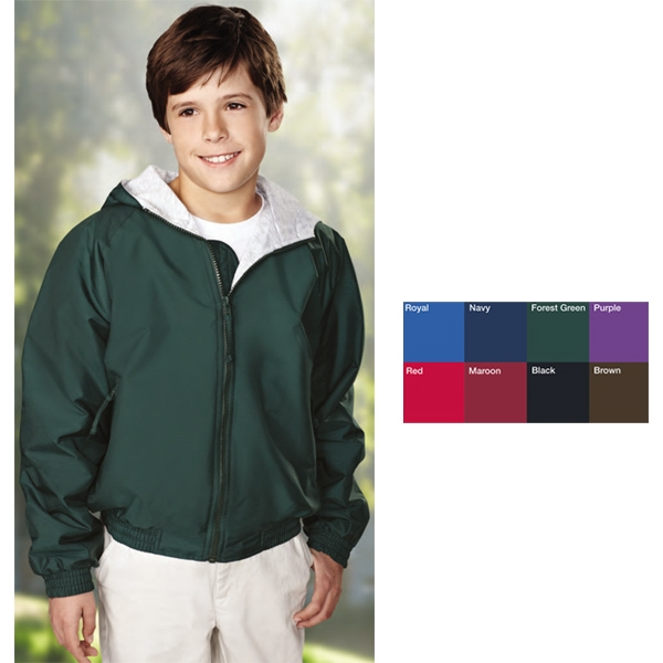 Bay Watch - Youth Size Hooded Nylon Jacket With Raglan Sleeves Photo