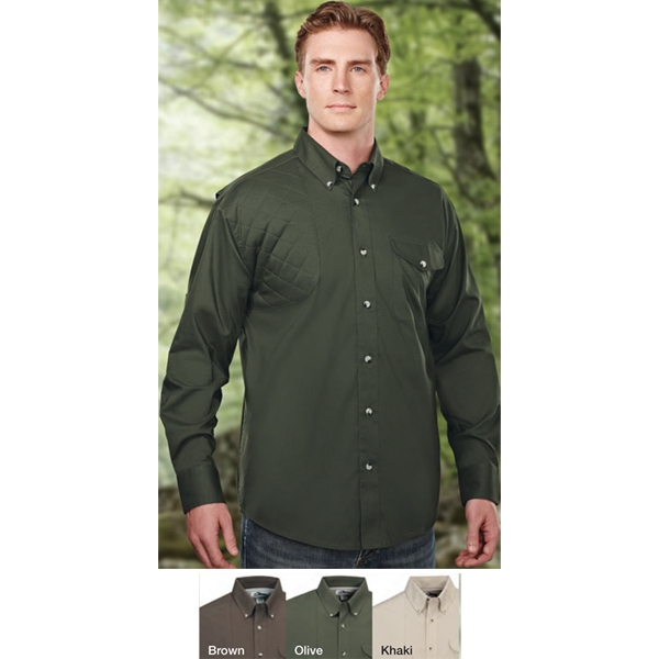 Trophy - S- X L - Lightweight Long-sleeved Shooting Shirt. Quilted Right Shoulder Shooting Patch Photo