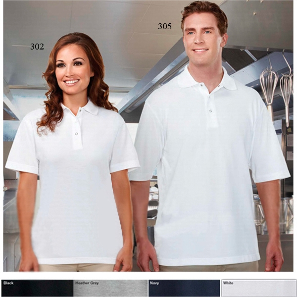 Assembly - 2 X L - Men's 7 Oz 60% Cotton/40% Polyester Short Sleeve Pique Knit Shirt Photo