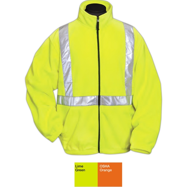 Precinct - S -  X L - Jacket With Reflective Tape Made Of 9.8 Oz 100% Polyester Micro Fleece Photo