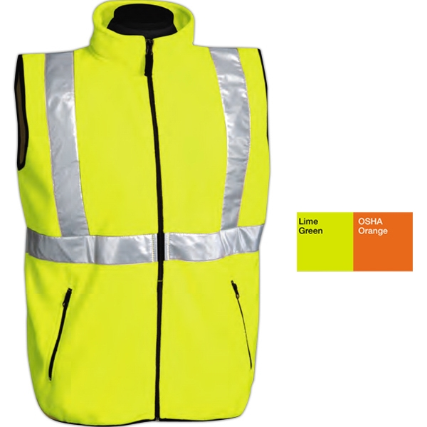 Perimeter - S -  X L - Vest With Reflective Tape Made Of 9.8 Oz 100% Polyester Micro Fleece Photo