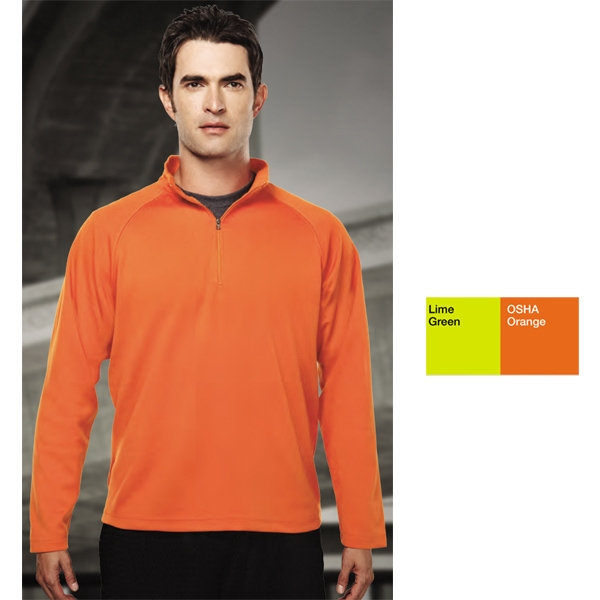 Milestone Performance (tm) - S -  X L - Men's 6.3 Oz 100% Peached Polyester Pique 1/4 Zip Pullover Shirt Photo