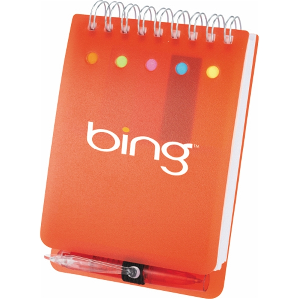 Spiral Jotter With Polypropylene Cover With Sticky Flags, Mini Ballpoint Etc Photo