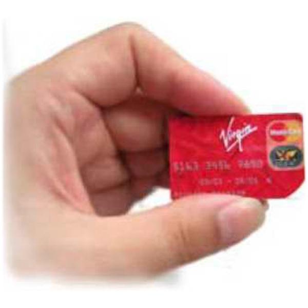 Mini credit card USB drive