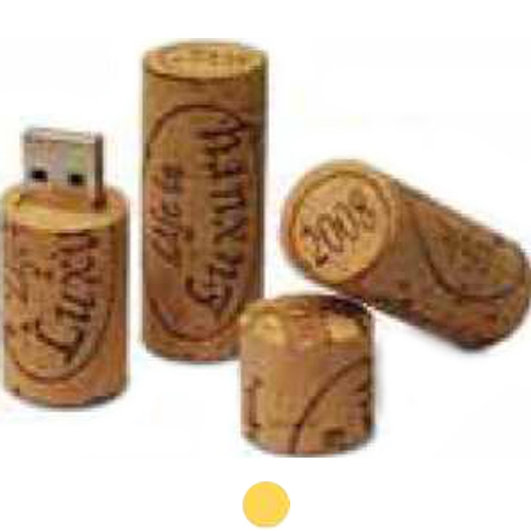 Recycled wine cork USB drive