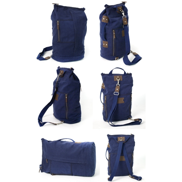 "Threads Bennett - 20oz Washed Canvas Is Both A Duffel And Backpack In One; 16"" X 20"" X 8"" Photo"
