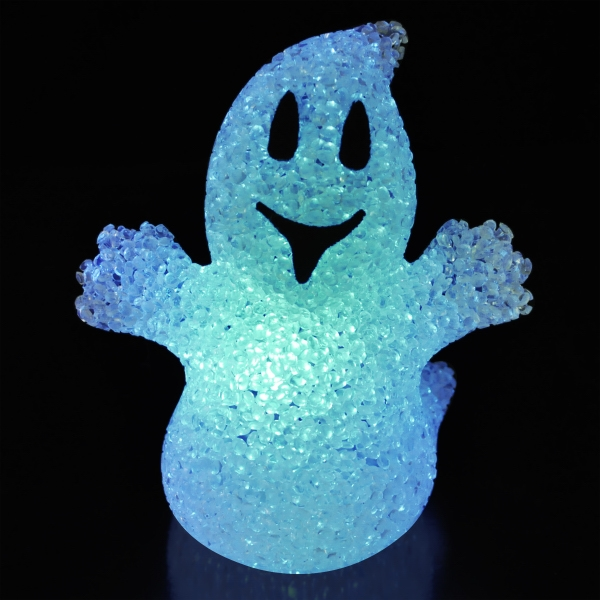 Soft glow Halloween ghosts with color change LEDs
