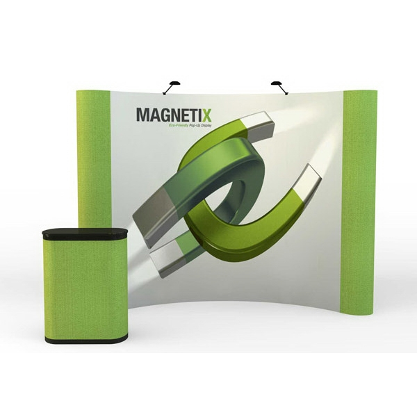 Magnetix curve graphic/fabric kit (10ft) DuraPrint - 10 ft. curved magnetic pop-up display kit with 4 graphic and 2 fabric panels.
