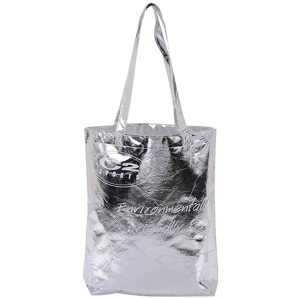 Aluminum Non-woven Tote Bag With Long Shoulder Straps Photo