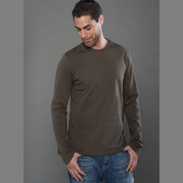 Fine Jersey Long Sleeve Tee with Side Seams