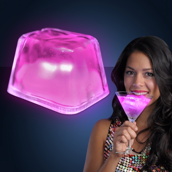 Pink Inspiration Ice LED Cubes - PATENT NO. D650,121