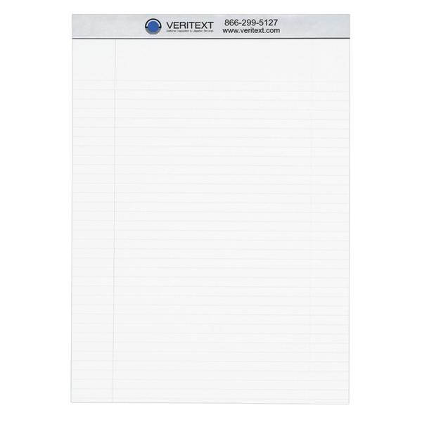 "Econo - 8 1/2"" X 11 3/4"" - Economy Legal Pad With 30 Perforated Sheets Of 18 Lb. White Tablet Bond Photo"