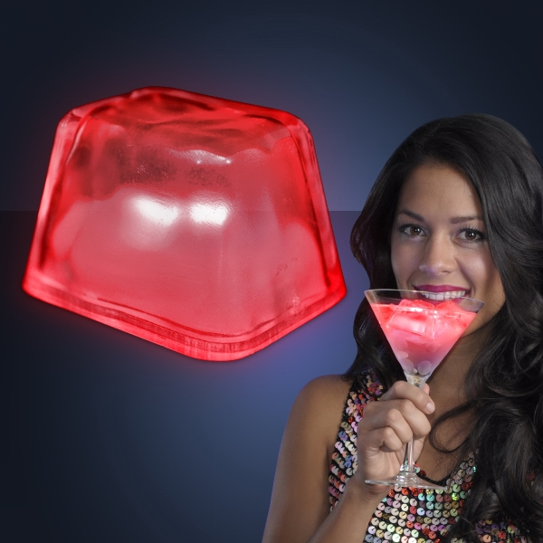 Red Inspiration Ice LED Cubes - PATENT NO. D650,121