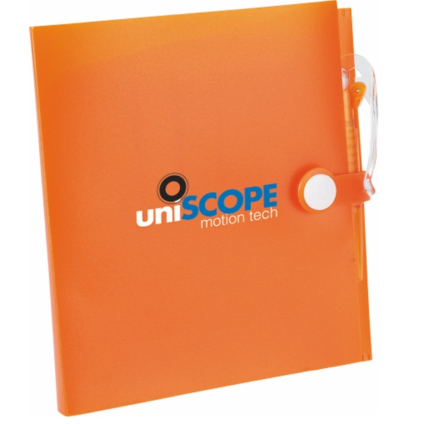 Snap Closure Notebook With Matching Mini Ballpoint Pen Photo