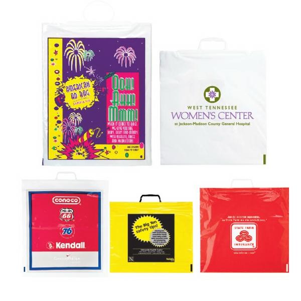 2.5 Mil Rigid & SnapLoop Handle Bag Large Qty & Custom Order