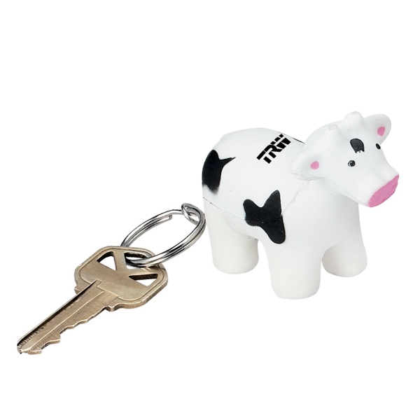 Animal Shaped Stress Reliever With Key Ring Attachment Photo