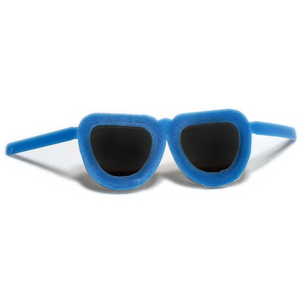 """8"""" Sunglasses Toy Accessory - Blue (Flexible Frame)"""