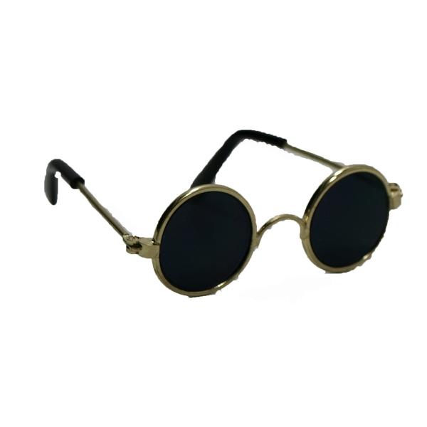 "8"" Black Tint Sunglasses Toy Accessory - Wire Rim"