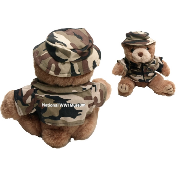"8"" Marine - Desert Camo/Boonie Hat with one color imprint"