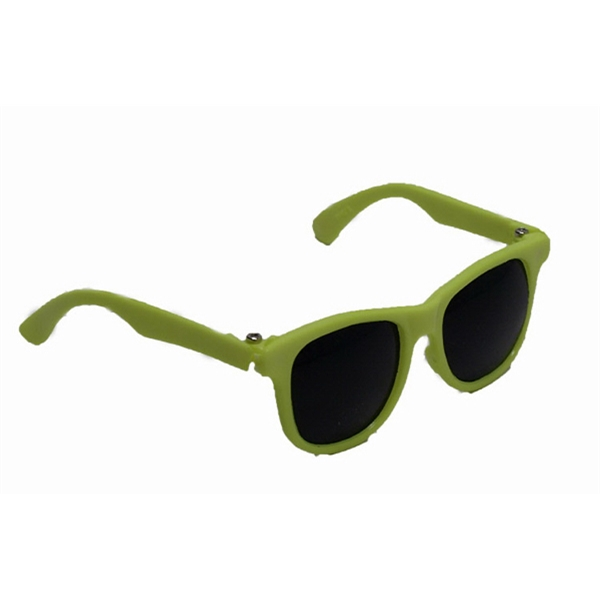 """12"""" Lime Green Sunglasses Toy Accssory - Rigid frame"""