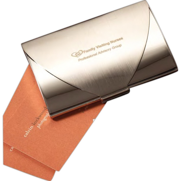 Luxembourg - Chrome Metal Business Card Holder, Combined With A Sleek And Smooth Design Photo