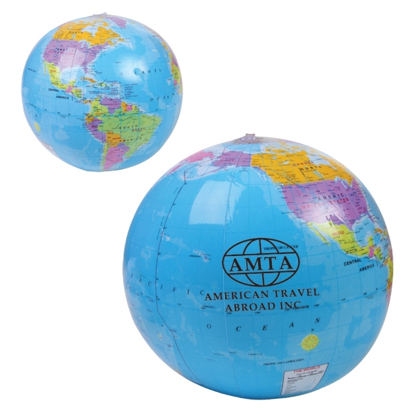"Beach Ball With Global Design, 14"" Photo"