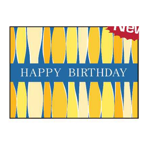 "Candle Card With Blue Background - 5"" X 7"" Everyday Birthday Note Card Photo"
