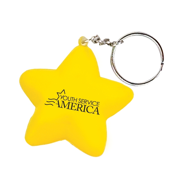 Handcrafted Polyurethane Star Stress Ball Key Chain Photo