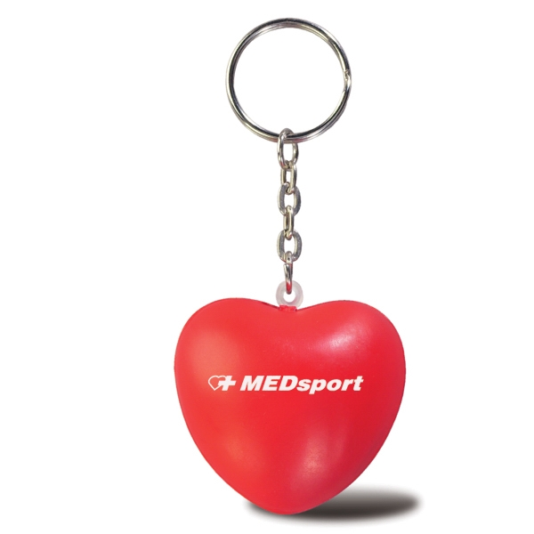 Handcrafted Polyurethane Heart Stress Ball Key Chain Photo