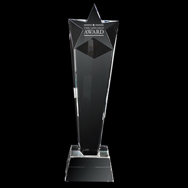Tall Star Crystal Trophy Photo