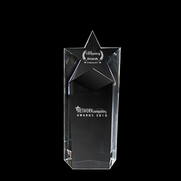 Short Star Crystal Trophy Photo