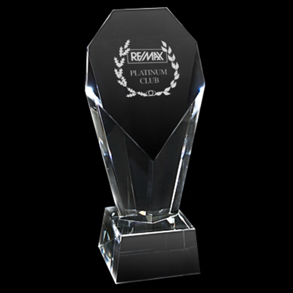 Large Heart Crystal Trophy Photo