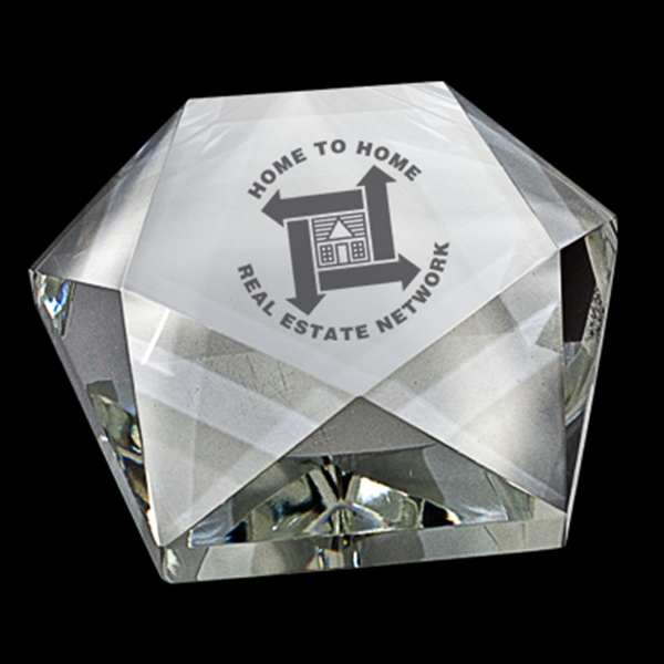 Star Shaped Crystal Paperweight Photo