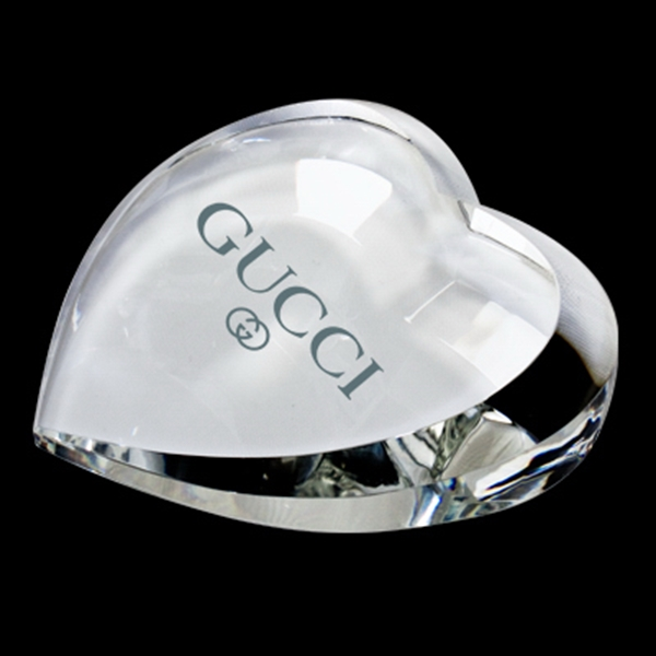 Heart Shaped Crystal Paperweight Photo