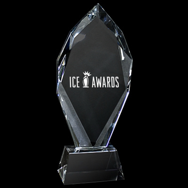 Large Flame Crystal Trophy Photo