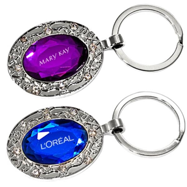 Oval Shaped Jewelry Key Chain Photo
