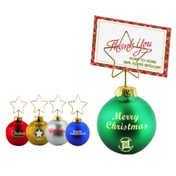 Christmas Ornament Shaped Memo Clip Photo