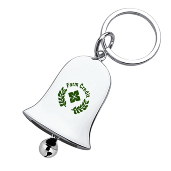 Metal Bell Shaped Keychain With Jingle Pendulum Photo