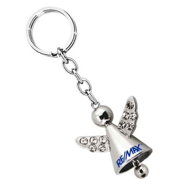Angel Key Chain With Crystals And Jingle Bell Photo