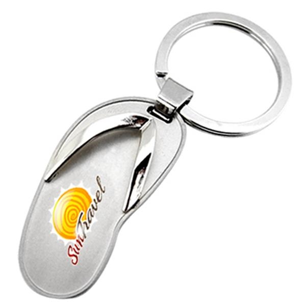 Metal Sandal Shaped Key Chain Photo