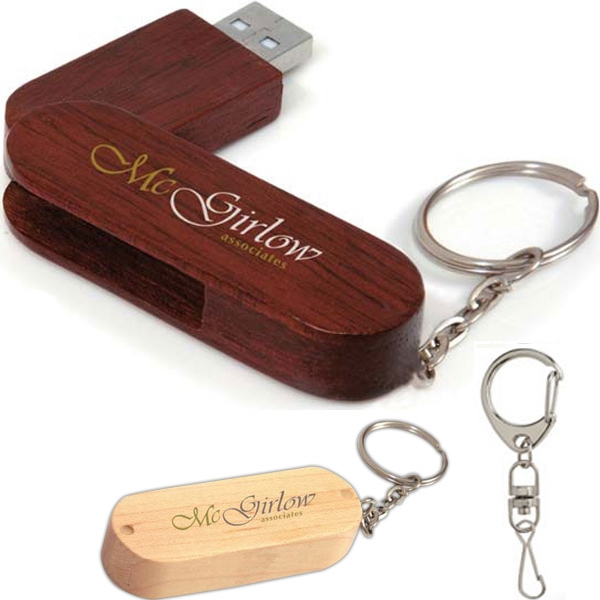 256mb - Bamboo Bullet Keyring Usb 2.0 Flash Drive Photo