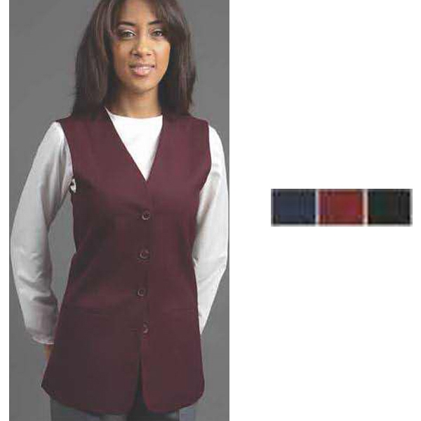 Ladies 4 button collarless/sleeveless cardigan blazer