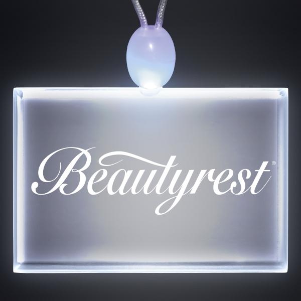 Light-up acrylic rectangle LED necklace