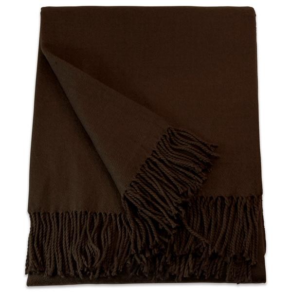 Brown Acrylic Throw Blanket
