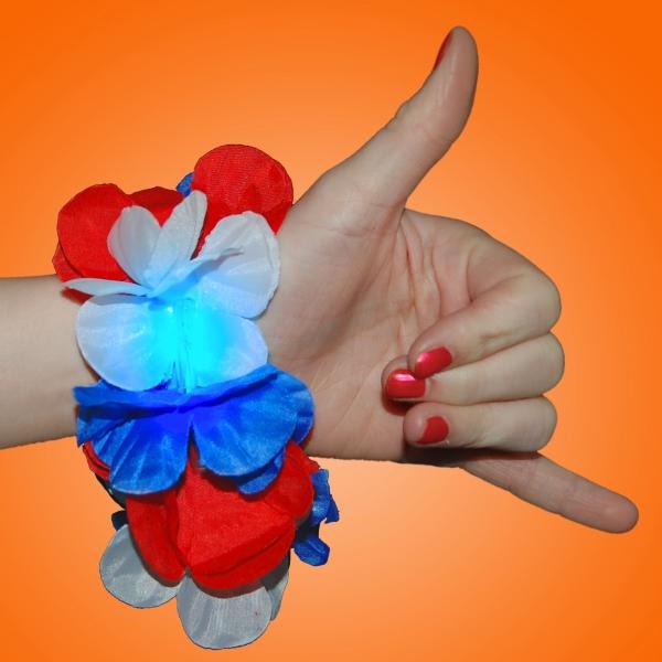 Red/White/Blue Hawaiian Lei bracelet