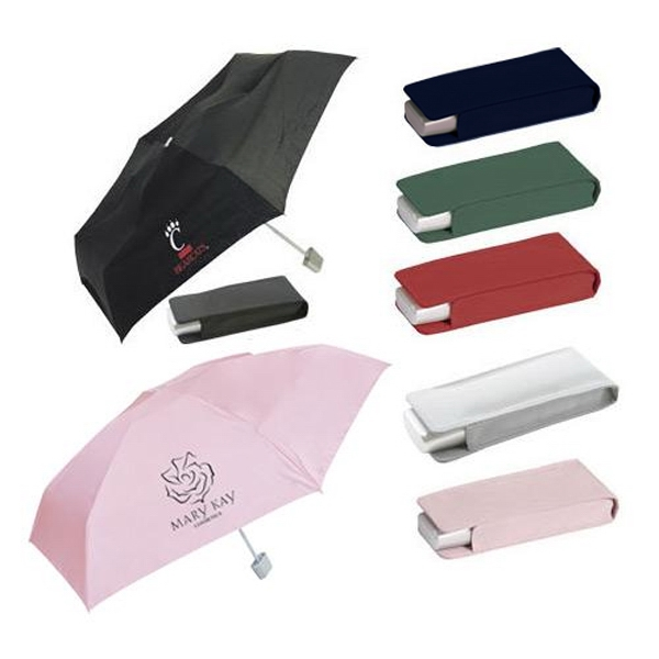 "Nylon Pocket Umbrella With Matching Case, 42"" Arc Photo"