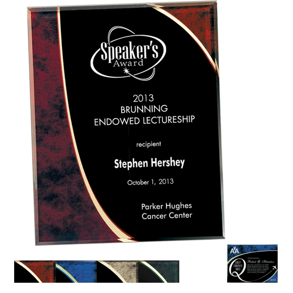 Halley Collection - 6'' X 8'' - Plaque Award. Exclusive Design. Exclusive Shimmering Effect Colors Photo